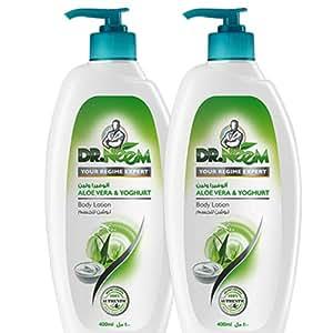 Dr. Neem Aloe Vera and Yogurt Body Lotion- Pack of 2PCs (2 x 400ml)