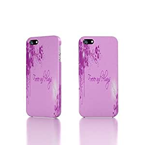 Apple iPhone 5 / 5S Case - The Best 3D Full Wrap iPhone Case - forever and always flowers hearts holiday love pink romance valentines
