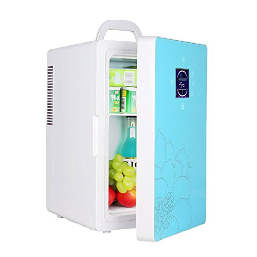 QIHANGCHEPIN 16L 220 v 12 v Dual-core LCD Display Mini refrigerador del coche ABS multifunción Home Cooler Freezer Warmer...
