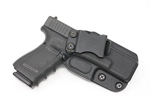 Black Scorpion Outdoor Gear Scorpion IWB KYDEX Holster: fits Glock 19-19 23 32 (Gen 1-2-3-4-5) - Custom Fit - Made USA - Inside Waistband - Adj. Cant/Retention (Black)