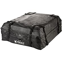 Waterproof Canvas Cargo Storage Roof Bag by Vault Cargo – On top of Car Bag - Straps to Crossbars or a Roof Basket - Waterproof Carrier Bag Has 15 Cubic Feet of Capacity – Fit for the Outdoor Elements