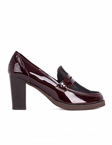 Mocasín Burdeos Tacón Alto PERA LIMONERA - Color - Burdeos, Talla Zapatos Mujer - 40: Amazon.es: Zapatos y complementos