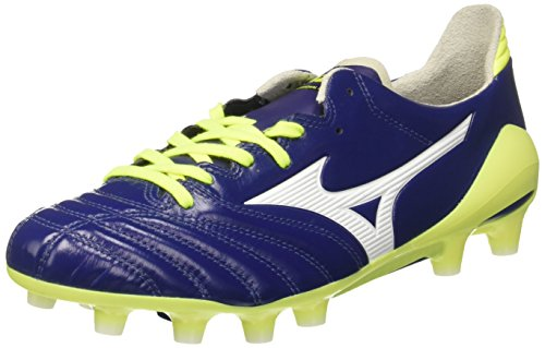 Mizuno Morelia Neo MD, Scarpe da Calcio Uomo Blu (Blue Print/White/Safety Yellow)