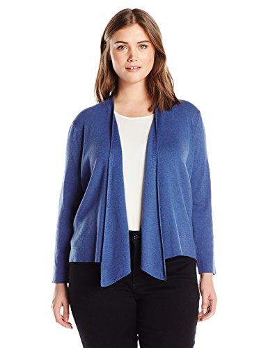 NIC+ZOE Women's Plus Size 4 Way Cardy, Blue Opal, 3X