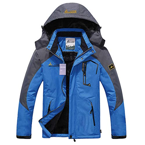 Alomoc Men's Winter Hiking Jacket Waterproof...