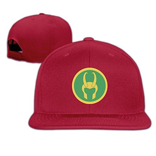MSKOOK Loki Helmet Snapback Flat Baseball Cap&Hat For Unisex (Loki Helmet For Sale)