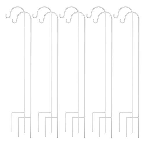 UPC 643485630227, GrayBunny GB-6823 Shepherd Hook, 35 Inch, White, 10-Pack, Solid Single Piece Steel, For Hanging Mason Jars, Plant Hangers, Flower Basket, Christmas Lights, Lanterns, Garden Stakes, Wedding Decor