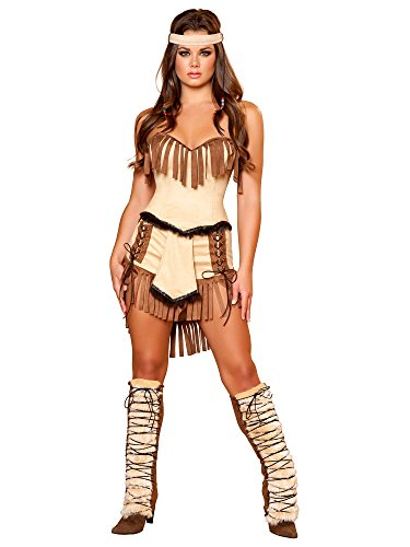 Cute Indian Costumes Adults (Women's Sexy Cherokee Indian Costume SMALL)
