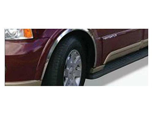 Lincoln Navigator Aftermarket - QAA FITS NAVIGATOR 2003-2006 LINCOLN (4 Pc: Stainless Steel Fender Trim - Clip on or screw in, hardware included, 4-door, SUV) WZ43655