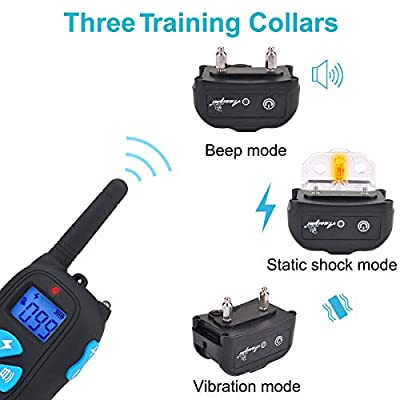 Awaiymi Dog Training Collar with Remote 2000ft Rechargeable Waterproof Electric Dog Shock Collar with Beep Vibration Shock for Small Medium Large Dogs [2019 Upgraded]