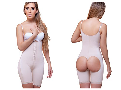 b1713c7f987 Vedette Shapewear 915 Open Bottom Mid thigh Shaper w  Front Closure Nude  X-Large at Amazon Women s Clothing store  Shapewear Bodysuits