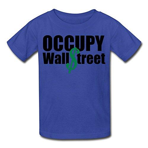 JWZT-KN kid's Occupy Wall Street T-shirt RoyalBlue L