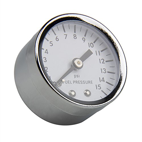 - CarBole Universal Fuel Pressure Gauge 0-15 PSI