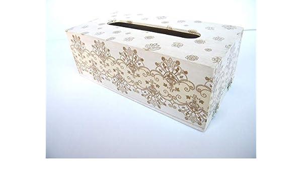 Caja para Pañuelos Beige, Porta Toallitas Faciales, Caja de Madera Rectangular Dispensador de Papel Servilletas 25x13x8 cm: Amazon.es: Handmade