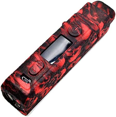Skull Red Silicone Case for VOOPOO Vinci X Protective Silicone Case Skin Cover Sleeve Wrap Shield