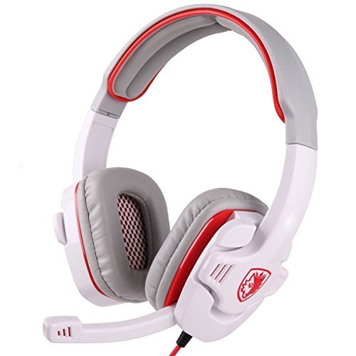Sades PC Wired 3.5mm Stereo Gaming Headset Headphones with Microphone Volume Control