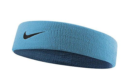 NIKE Dri-Fit Headband 2.0 (One Size Fits Most, Blue Lagoon/Black)