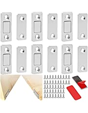 TAFAFTL 6 stycken magnetiska läpparmagneter, dörrmagnet självhäftande skåp magnet för möbler skåpmagneter stark magnetisk stängning skåp magnet dörrstängare möbelmagneter