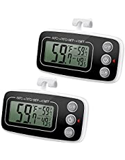 (Upgraded) Brifit Refrigerator Fridge Thermometer, Digital Freezer Thermometer with Hook, Easy to Read LCD Display, Max/Min Function, Perfect for Home, Restaurants, Cafes, Bars, etc.