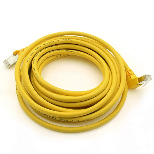 1 Attack. de Cat.6 Cable de Red ángulo 90 Grados CAT6 Patch Cable (SFTP PiMF) 1000 Mbit/s Conector RJ 45 Compatible con CAT5 CAT5E CAT6 CAT6 a CAT7 cat7 a ...