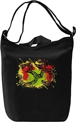 Om Sign Borsa Giornaliera Canvas Canvas Day Bag| 100% Premium Cotton Canvas| DTG Printing|