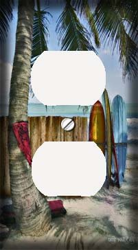 Surfing Switchplate (Surfboards on the Beach Decorative Outlet Cover)