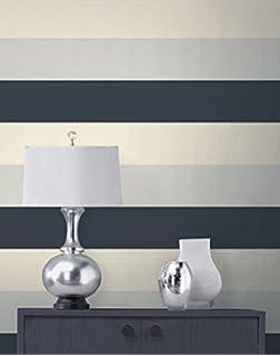 Olivia II Silver Cream And Black Striped Wallpaper 6155