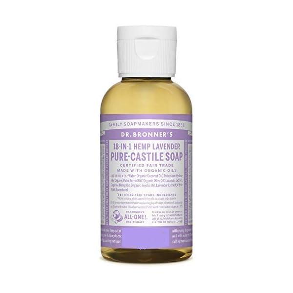 Dr. Bronner's Organic Lavender Pure-Castile Liquid Soap 60ml