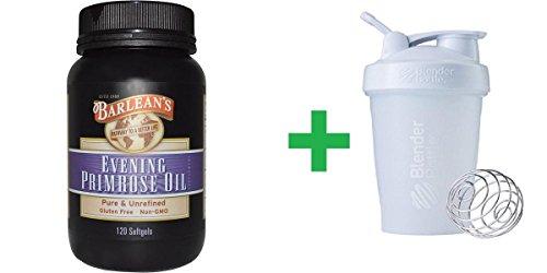 (Barlean's, Evening Primrose Oil, 120 Softgels + Assorted Sundesa, BlenderBottle, Classic With Loop, 20 oz)