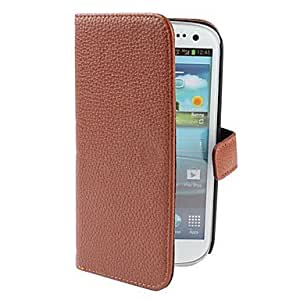 TOPQQ PU Leather Case with Stand for Samsung Galaxy S3 I9300 (Assorted Colors) , Blue