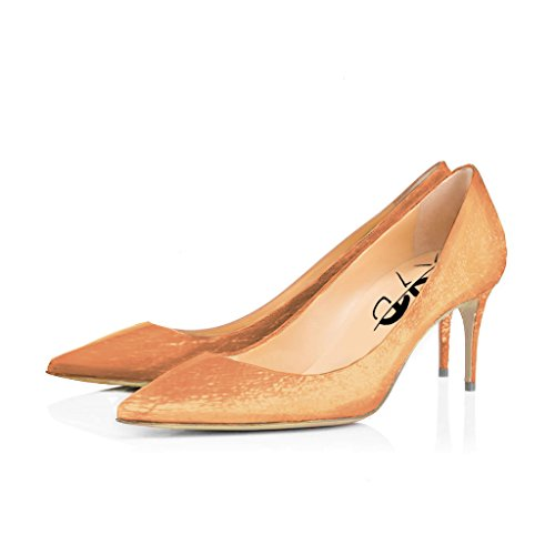 XYD Prom Graceful Dress Pumps Kitten Heel Pointed Toe Com...