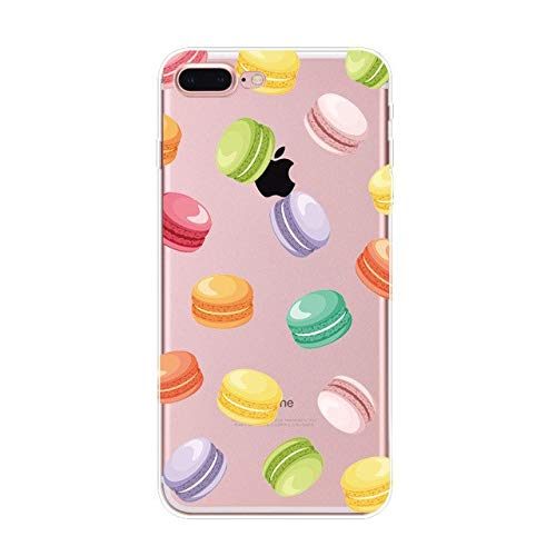 - 1 piece For IPhone 5 5s 6 6s Plus 7 Plus 8 Plus New Fashion Doughnut Drinks Cake Pattern TPU Soft Painted Phone Cases Back Cover Fundas