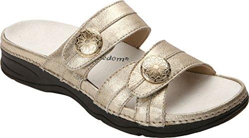 Sandalias Drew Shoe Slides Para Mujer Dusty Gold