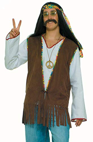 Best Halloween Costume Themes For Work (Forum Novelties Men's Generation Hippie Costume Vest, Brown, One)