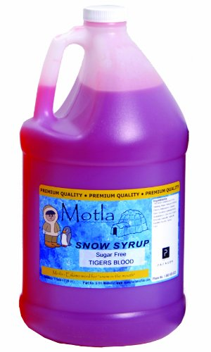 Paragon Motla Premium Sugar-Free SNO-Cone and Shaved Ice Syrup, Tigers Blood, Gallon ()