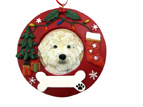 E&S Pets Labradoodle Personalized Christmas Ornament