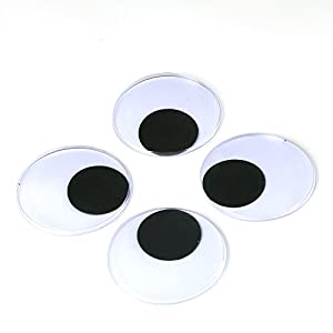 Decora 3 giant wiggle googly eyes with self for Large googly eyes crafts