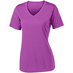Opna Women's Short Sleeve Moisture Wicking Athletic Shirt, Medium, Pink Orchid