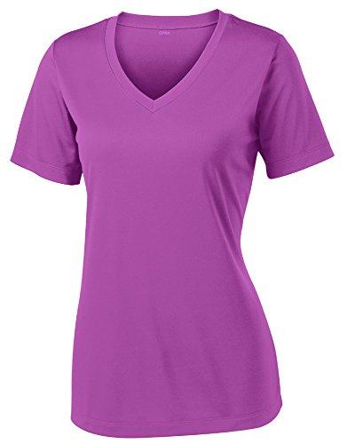 Opna Women's Short Sleeve Moisture Wicking Athletic Shirt, Medium, Pink Orchid
