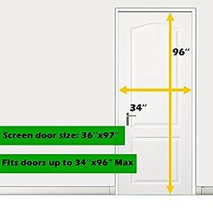 Magnetic Screen Door 36 X 96 Mosquito Patio Screens Magic