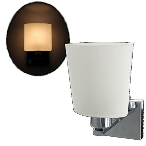 Light Fixtures Uae: Modern Wall Light E14 Lamp Base Glass Shape Sconce