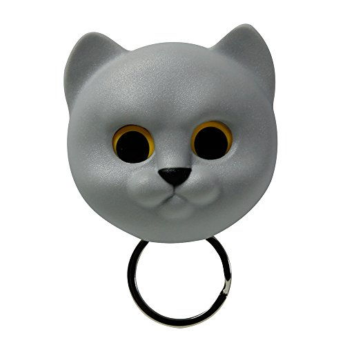 Sansukjai Grey Cat, Key Holder, Wall Decor, Wall Hanging, Key Hanger, Key Hooks, Key Organizer,Cat lover, Gift