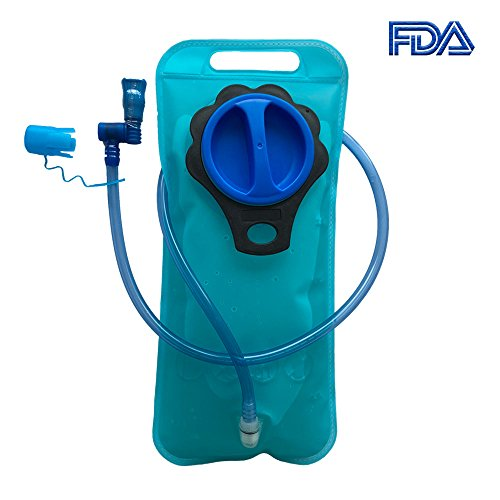 TPU Hydration Bladder 2L Leak Proof BPA Free Insulated Antimicrobial Hydration Bladder Water Reservoir for Hiking Biking Climbing Hunting Cycling