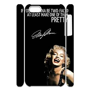 Custom Cover Case with Hard Shell Protection for Iphone 5C 3D case with Marilyn Monroe Quote lxa#903738