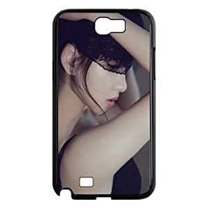 Samsung Galaxy N2 7100 Cell Phone Case Black Pure Elegant Mature Sexy Lace Woman Profile SUX_183662