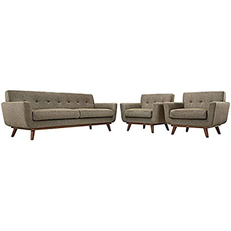Engage Armchairs And Sofa Set Of 3 In Oatmeal