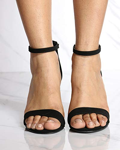 TOP Moda Womens Hannah Open Toe Casual Ankle Strap Sandals