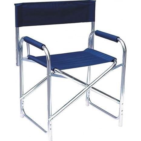 Sedie Pieghevoli Regista Alluminio.Sedia Regista Blu In Alluminio Mare Spiaggia Giardino Pieghevole