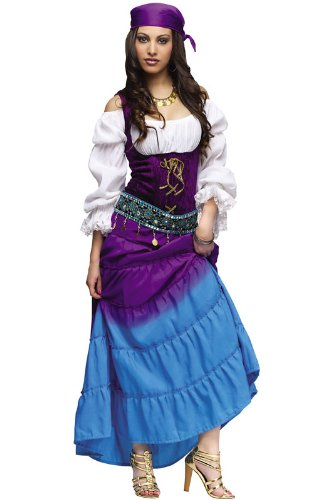 Fun World Women's Gypsy Moon Costume, Multi, Med/LRG