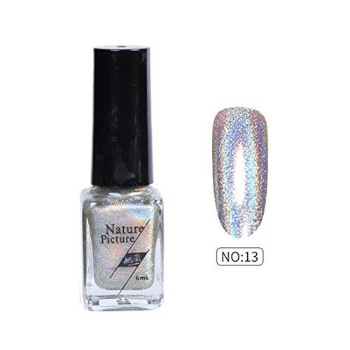 Shifter Chrome Ball - Women's Shimmer Nail Polish, Iuhan 6ml Nail Polish Color Change Shimmer Nail Sequins Long Lasting Nail Lacque (M)